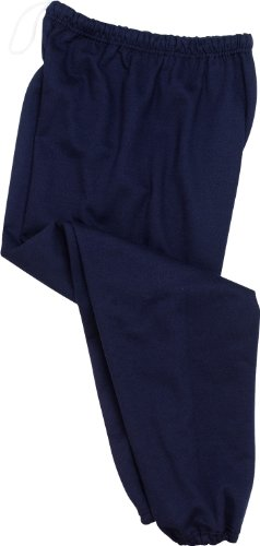 Jerzees Cotton/Poly Sweatpants (No Pockets), 2XL Navy ()