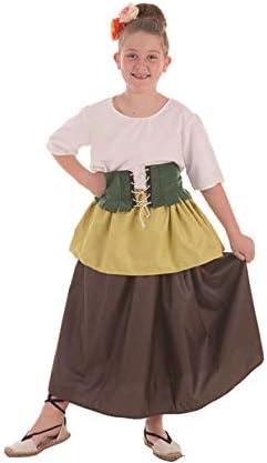 Disfraz de Tendera Medieval para niña: Amazon.es: Juguetes y juegos