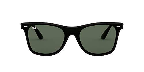 Ray-Ban RB4440N Blaze Wayfarer Sunglasses, Matte Black/Green, 41 mm (Rb Aviator Small)