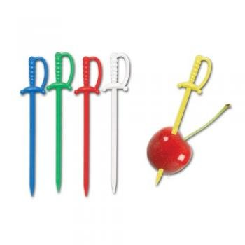 [Plastic Sword Food Picks : package of 50] (Scallywag Pirate Costume)