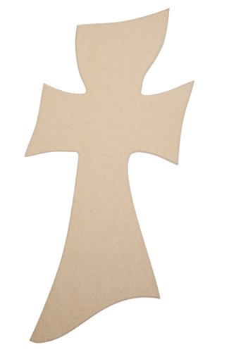 18″ X 12″ Gumby Wood Cross Unfinished DIY Medium Wooden Craft Cutout to Sell Stacked Crosses