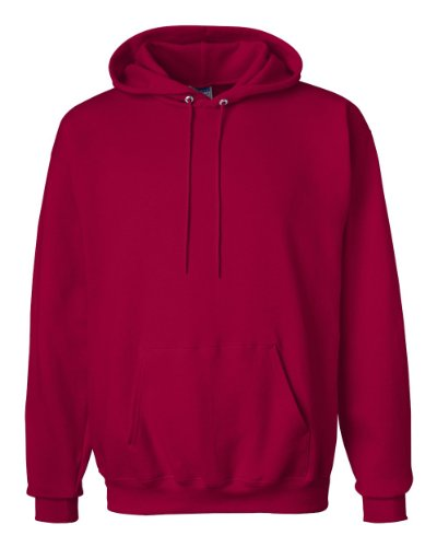 (Hanes Ultimate Cotton™ - 10-Ounce Pullover Hooded Sweatshirt. F170, Red M)