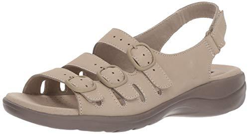 Clarks Women's Saylie Quartz Sandal, Sand Nubuck, 7 M US