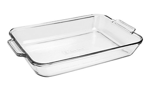 Anchor Hocking 81935OBL11 Oven Basics Bake Dish, 5 quart, Clear