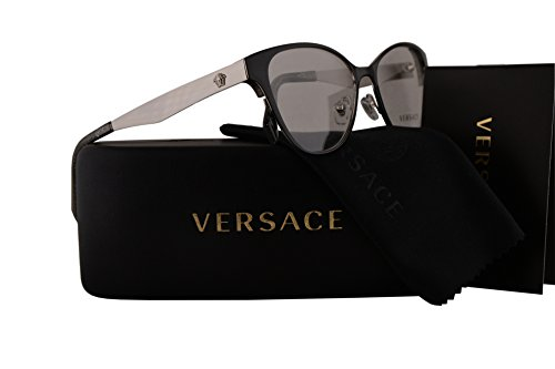Versace VE1245 Eyeglasses 53-16-140 Black Silver Glitter w/Demo Clear Lens 1343 VE - Versace Eyeglasses Sale