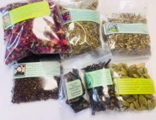(Ravenz Roost Incense Sampler kit ~ Dried Herbs and resins to Make Your Incense ~ Venus and Mars Dried Herbs)