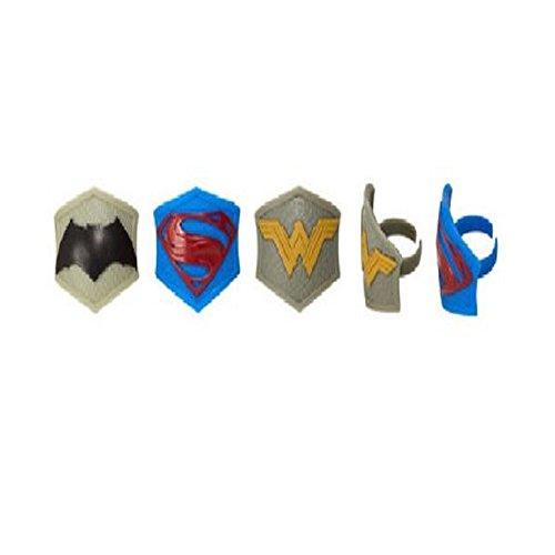 Batman Superman Wonderwoman (24) Cupcake Party Favors Decoration Topper RINGS (Wonderwoman Cake)