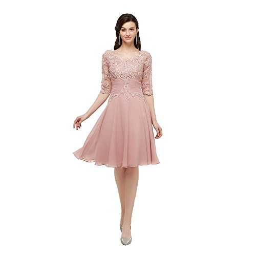 fa079c1c329 Home Sizes Petite Petite Mother of The Bride Dresses Knee Length Half  Sleeves Lace Party Dresses.   