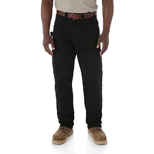 RIGGS WORKWEAR by Wrangler Men's Ranger Pant,Black,38x36 ()