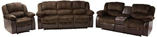 NHI Express Aiden Motion Sofa Set (1 Pack), Peat