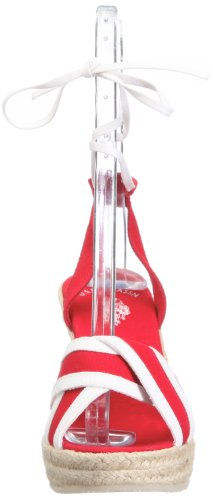 57 U de 4175S1 Canvas para S de mujer Polo Alena lino Rojo US7 vestir Sandalias 490 IwqxIrX4