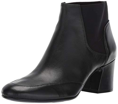 Naturalizer Women's Danica Ankle Boot, Black Leather, 8 W US