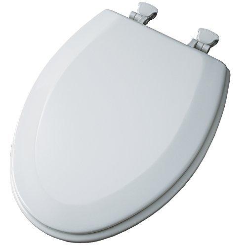 - Church White Wood Elongated Toilet Seat