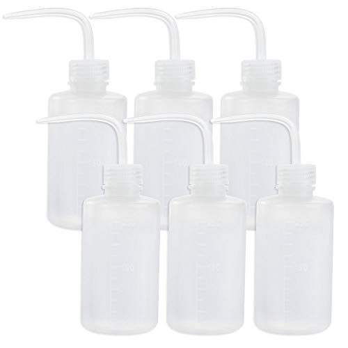 Ldpe Narrow Mouth Bottle - Safety Wash Bottle Squeeze Bottle LDPE with Narrow Mouth 250ml/8.5oz, Pack of 6 by DEPEPE