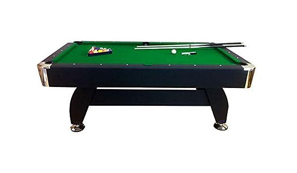 lanzoni Mesa de billar profesional gamuza verde 188 x 96 cm 7 pies Green Season: Amazon.es: Deportes y aire libre