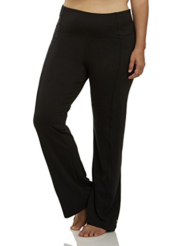 Marika Women's Plus-Size High Rise Tummy Control Slim Boot Pant 32 Inch Inseam, Black, 1X