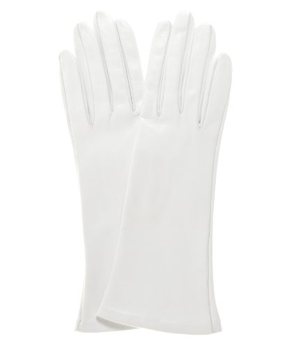 Fratelli Orsini Women's Italian Silk Lined 4-Button Length Bridal Gloves Size 7 1/2 Color White by Fratelli Orsini