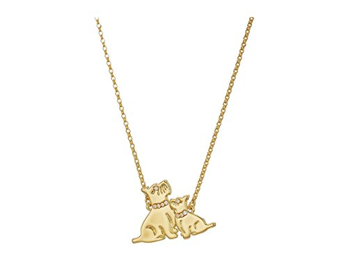 Kate Spade New York Women's Mom Knows Best Dog Pendant Necklace Gold One Size