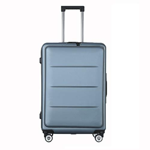 Xiao Jian Business Trolley case Front Luggage PC Suitcase Men and Women Zipper Password Hard Box Front Open Cover Computer Cache Design Scratch Resistance wear Weight 20 inch Trunk (Color ()