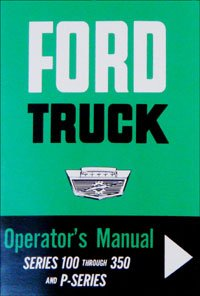 - 1964 Ford Truck F100-250-350 Pickup Owners Manual 64 (with Decal)