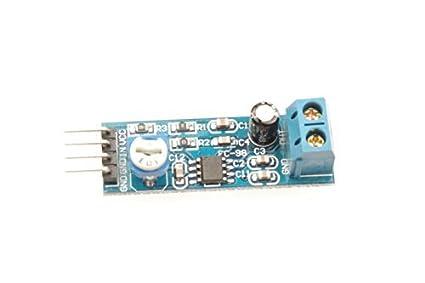 Resistência ajustável DealMux LM386 Áudio Módulo Amplificador 200 vezes 5-12V 10K