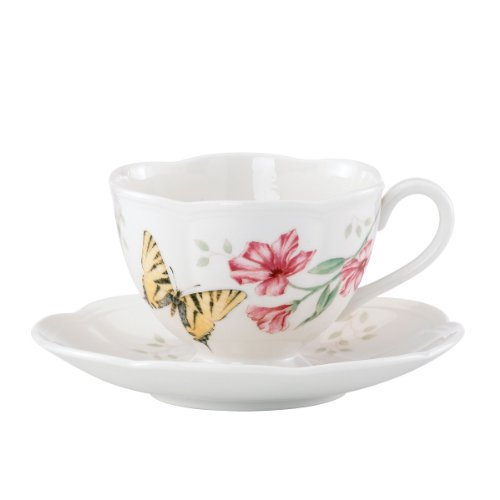 (Lenox Butterfly Meadow Tiger Swallow Tail Cup and Saucer Set)