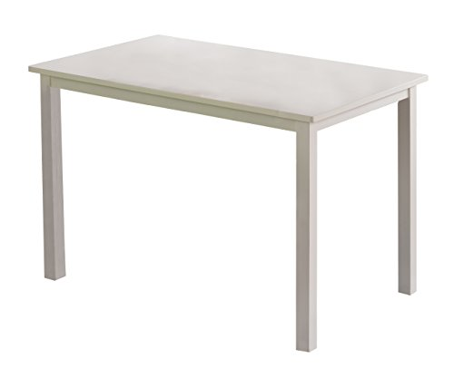 Kings Brand Furniture Vanilla Wood Dining Room Kitchen Table, White