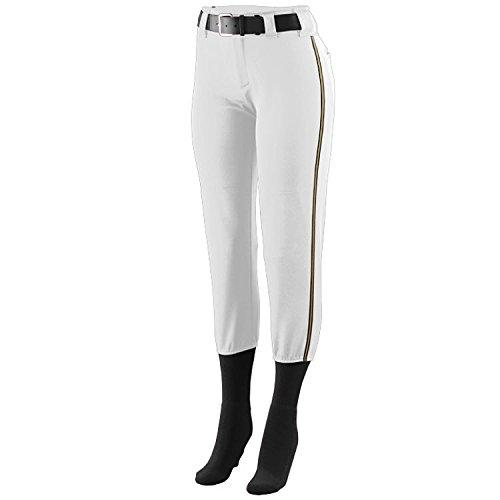 低価格で大人気の Girls/レディースLow Rise Collegiate Pants/旅行ボール/ Youth all-starsソフトボールマルチカラーサイド飾りパンツ子供 Piping/大人用サイズ8、9色) Youth Small (Waist 21-23) White Pants with Black/Gold Piping B00SZG7LYY, チョコ屋:1ec42e84 --- a0267596.xsph.ru