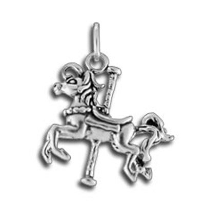 (Sterling Silver Carousel Horse Charm)