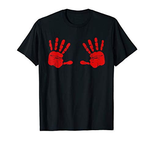 Halloween Handprint Ideas (Bloody Hands Hand Prints Boobs Halloween Fun Gift Idea)