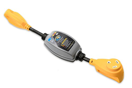 Camco Dogbone RV Circuit Analyzer With Power Grip Handles, Integrated (30a Rv Surge Protector)