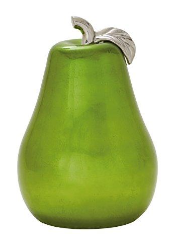 Deco 79 59708 Riveting Ceramic Green Pear, 12