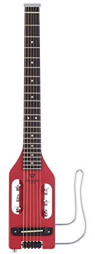 Traveler Guitar Ultra-Light 6 String Acoustic-Electric Guitar, Vintage Red (ULA VRDM)