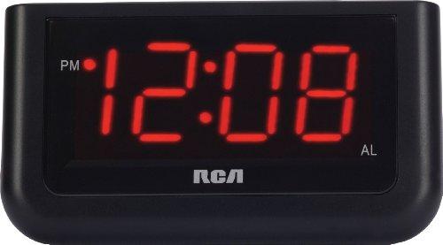 "Despertador digital RCA con pantalla grande de 1.4 """