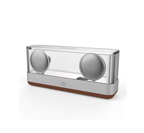 無線スマートなBluetoothのスピーカーの低音の小型スピーカーの携帯用コンピュータ照明 (Color : Maroon)  Maroon B07QK56GZ4