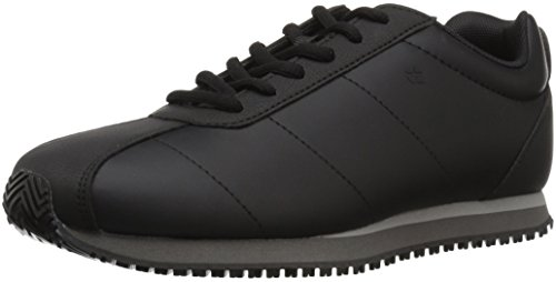 Shoes for Crews Women's Avery Slip Resistant Retro Sneaker, Black, 7.5 Medium US