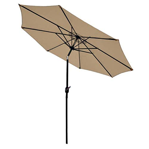 Sunnyglade 9' Patio Umbrella Outdoor Table Umbrella with 8 Sturdy Ribs (Tan) by Sunnyglade