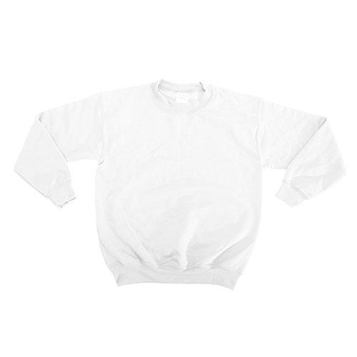 Gildan Childrens Big Boys Heavy Blend Crewneck Sweatshirt (XL) (White)
