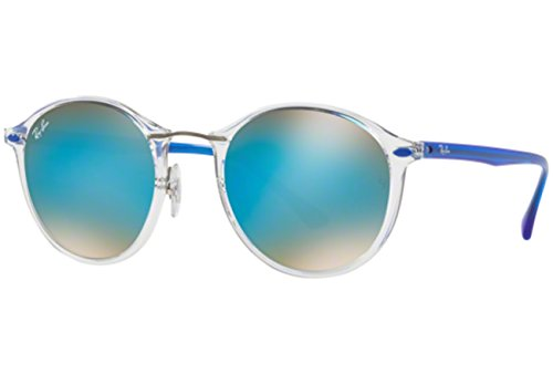 Ray-Ban-Injected-Unisex-Non-Polarized-Iridium-Round-Sunglasses-Trasparent-491-mm