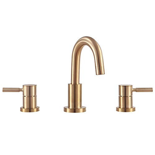- 8 in. Widespread Bath Faucet in Matte Gold Finish