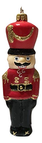 Impuls Nutcracker Red Soldier Polish Glass Handcrafted Holiday Ornament