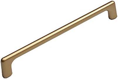 ドアハンドル ワードローブ引き出しキャビネットホームデコレーション用のシンプルなアルミ合金ソリッドハンドル トイレ、キッチン、階段で広く使用されています (Color : Gold, Size : S)