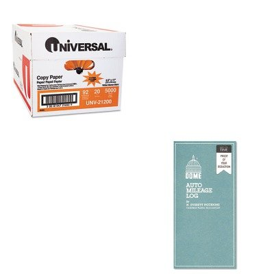 KITDOM770UNV21200 - Value Kit - Dome Auto Mileage Log (DOM770) and Universal Copy Paper (UNV21200)