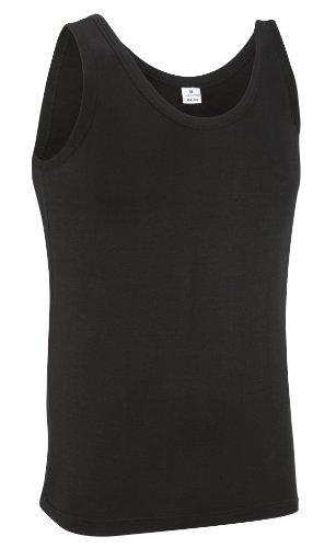 Camiseta sin mangas 100% Algodón (L, NEGRO)