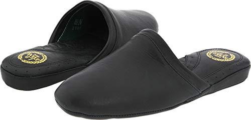 L.B. Evans Men's Aristocrat Scuff Slipper,Black,11 M 3036-001
