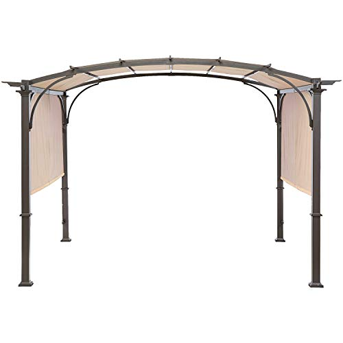 MASTERCANOPY Universal Doubleton Steel Pergola Replacement Cover for Pergola Structures L-PG080PST 80''x 205''Beige(Cover only) (Patio Awning Covers Replacement)