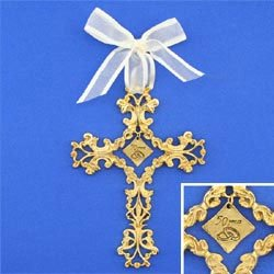 Cathedral Art 50th Anniversary Cross Ornament - Beautiful & Traditional 50th Anniversary Gift Idea by