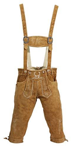 (BAVARIA TRACHTEN Traditional German Lederhosen Men Authentic Bavarian Octoberfest Clothing - Genuine Leather)