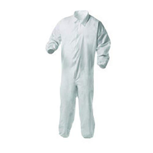 - Kimberly-Clark Professional 3X White KleenGuard A35 Microporous Film Laminate Disposable Liquid And Particle Bib Overalls/Coveralls, Package Size: 25 Each