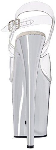 Pleaser FLAMINGO-808 - Sandalias de vestir para mujer Clr/Slv Chrome